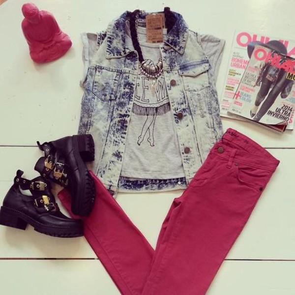 blouse jacket jeans t-shirt