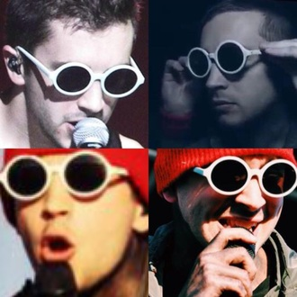 sunglasses tyler joseph josh dun chipotle music twenty one pilots twentyonepilots white sunglasses