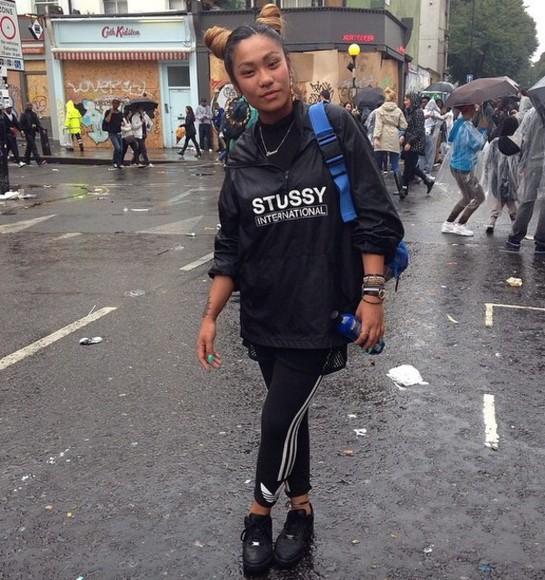 jacket stussy stussy international raincoat raincoat