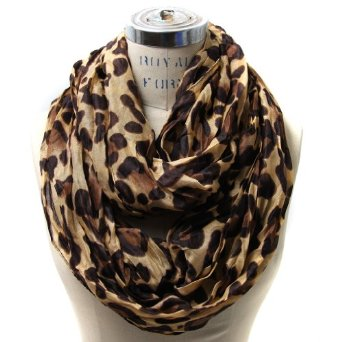 Amazon.com: Scarfand's Leopard Infinity Scarf (Camel): Clothing