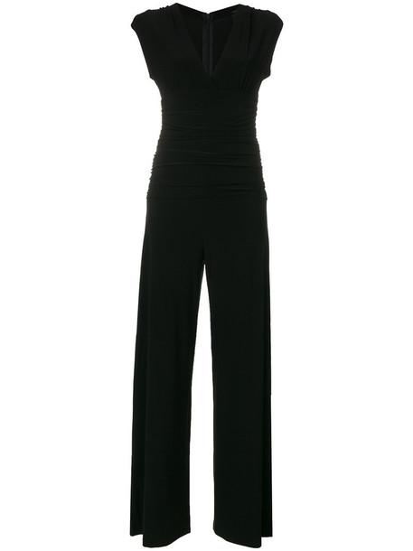 Norma Kamali jumpsuit women spandex black