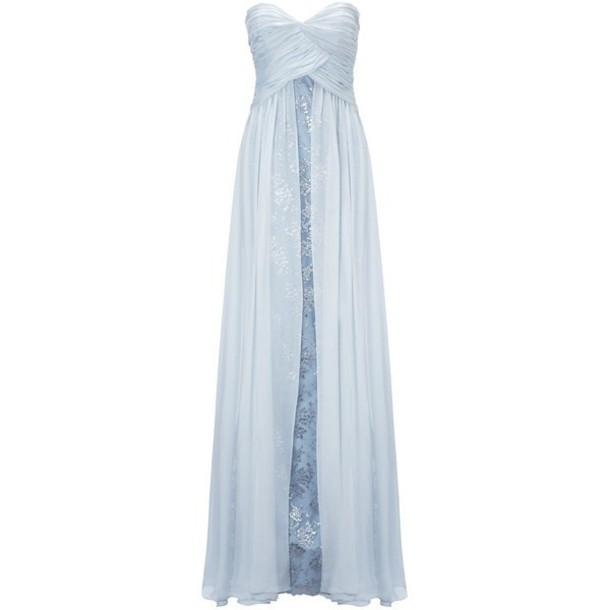 dress light blue prom dress long prom dress
