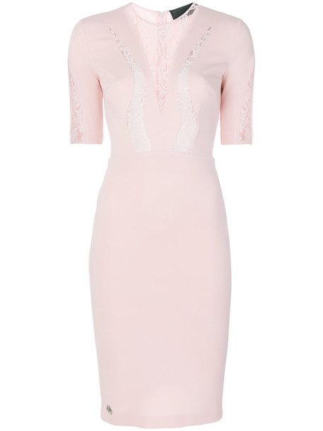 PHILIPP PLEIN dress women lace cotton purple pink