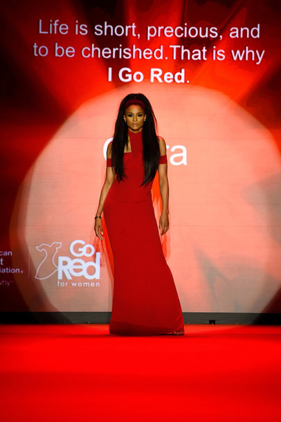 dress red dress red fashion fashion week 2015 ciara