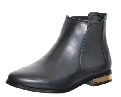 Gold Heel Chelsea Boot - Black: Black - £35.00 - Ankle Boots from Peppermint
