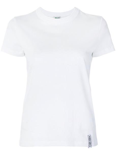 Kenzo t-shirt shirt t-shirt women white cotton top