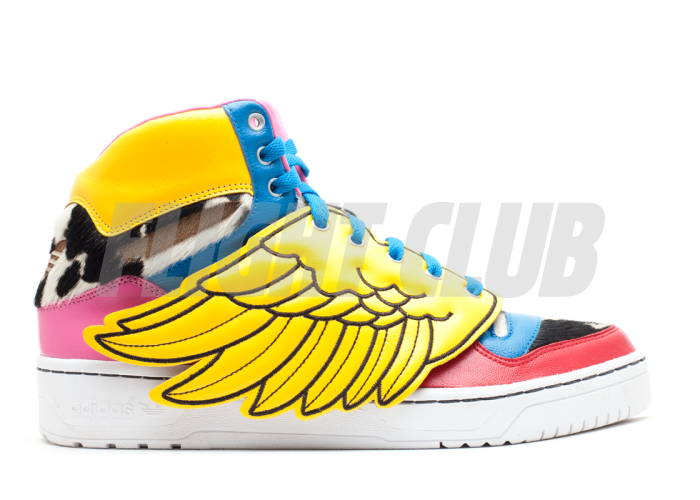 "js wings ""jeremy scott x 2ne1"" - wht/wcnglo/ultpnk - Footwear  