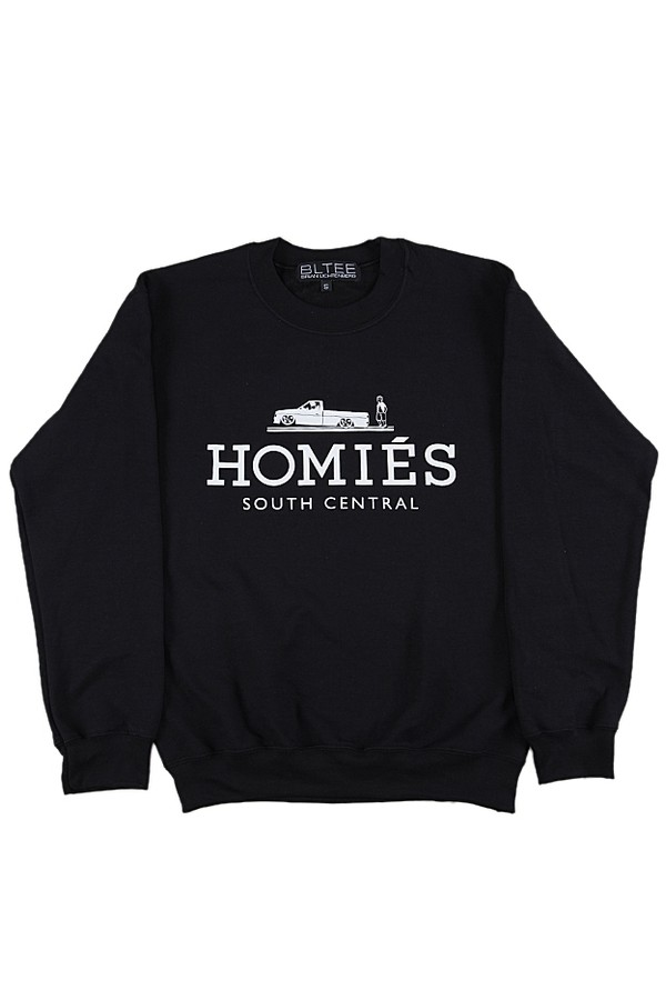 sweater south central homies homies sweatshirt homies black t shirt ballenciaga paris blouse shirt black white ballinciaga harlem ballin london avenue