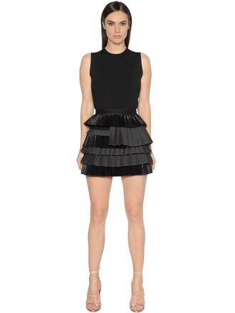 dress silk wool black