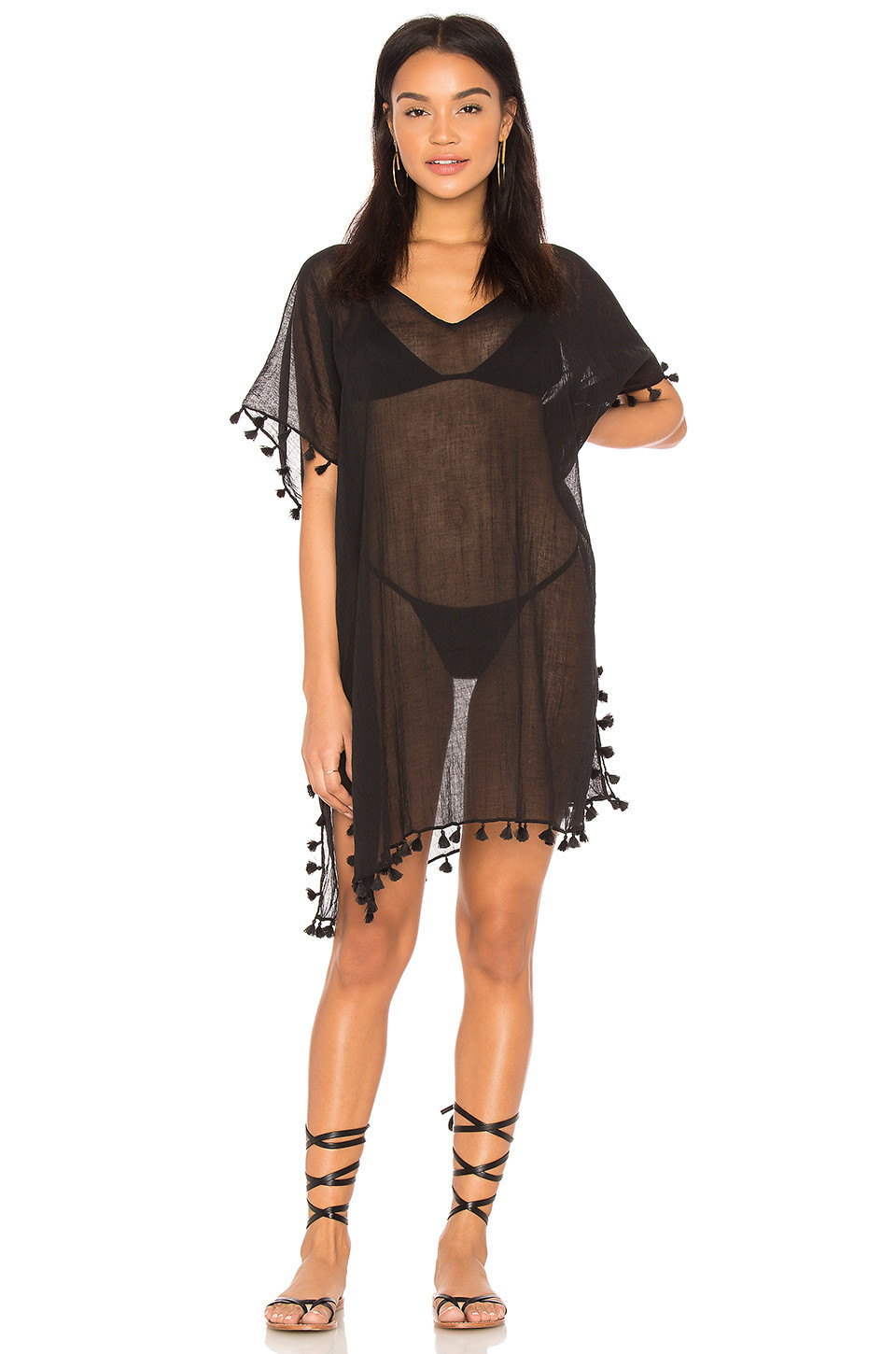 Seafolly Amnesia Kaftan in black