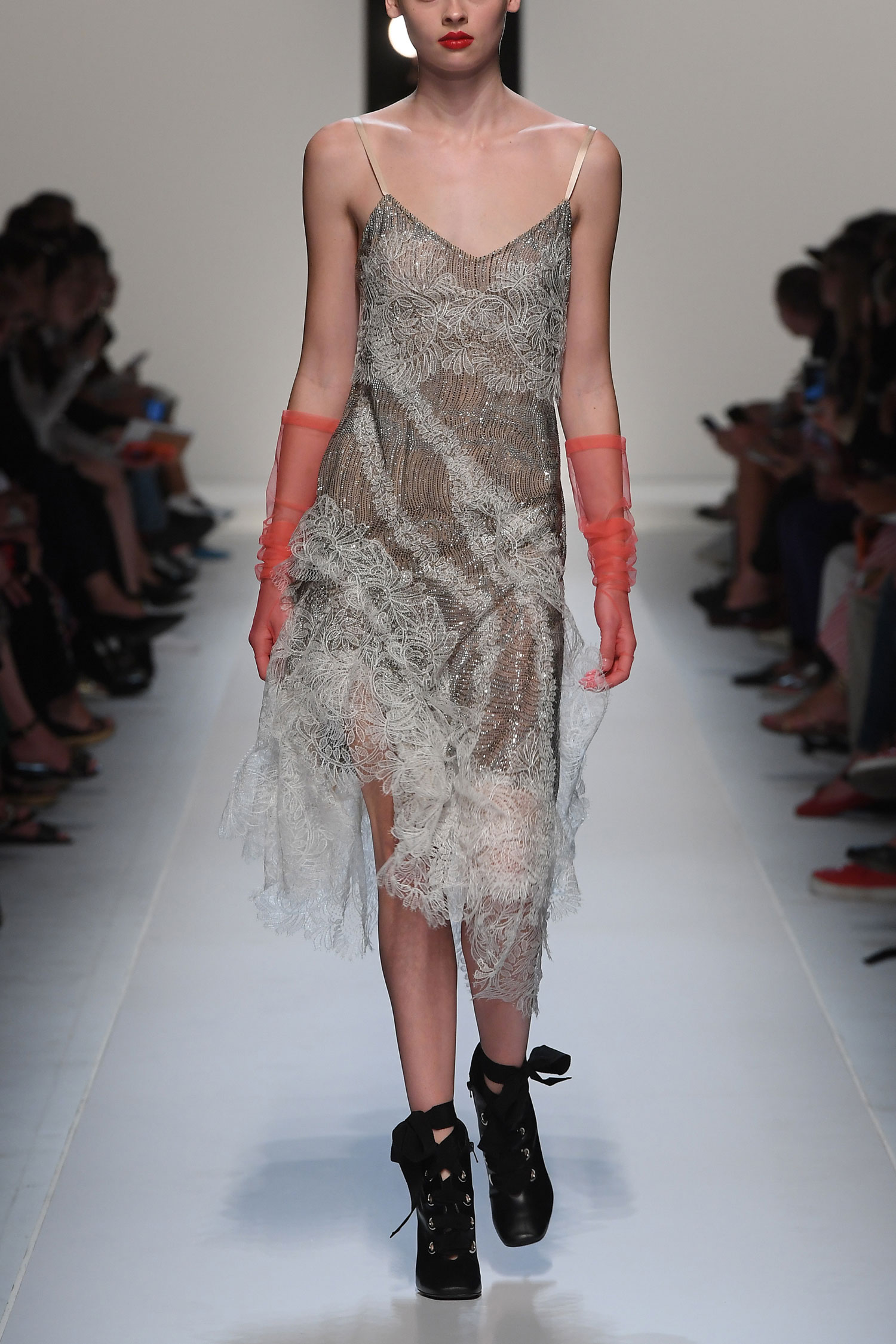 Lingerie dress with crystals - Ermanno Scervino