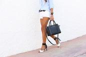 seams for a desire,shoes,belt,bag,jewels,sunglasses,high heels,stradivarius,shorts,michael kors,classy,preppy,summer outfits,blogger,denim shorts,bracelets