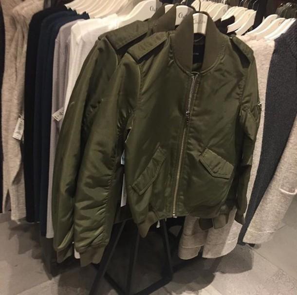 Coat Bomber Jacket Green Jacket Tumblr Tumblr Aesthetic Grunge Grunge Aesthetic Soft ...