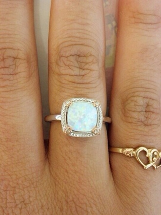 jewels ring opal pinterest square ring