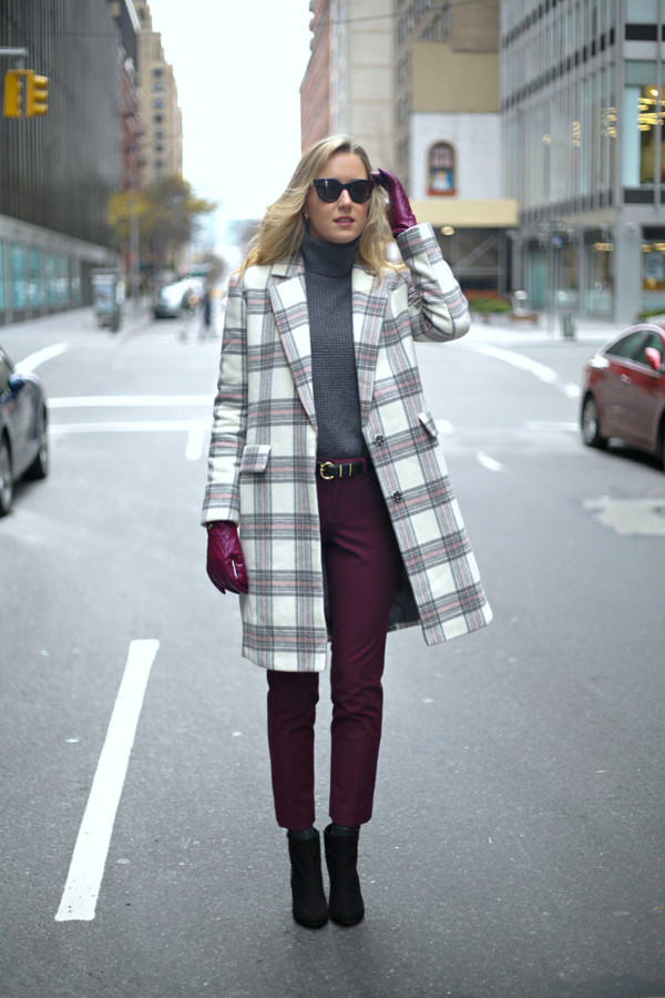 the classy cubicle coat sweater pants shoes belt sunglasses bag
