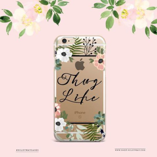 Milkyway Cases CLEAR TPU CASE COVER - THUG LIFE