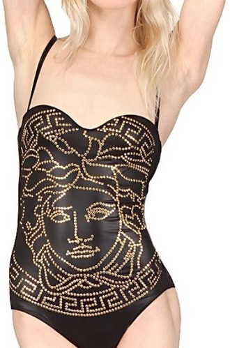 swimwear white black versace faux designer clothing