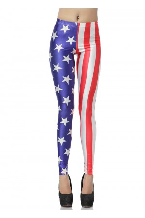 Fashionable American Flag Leggings