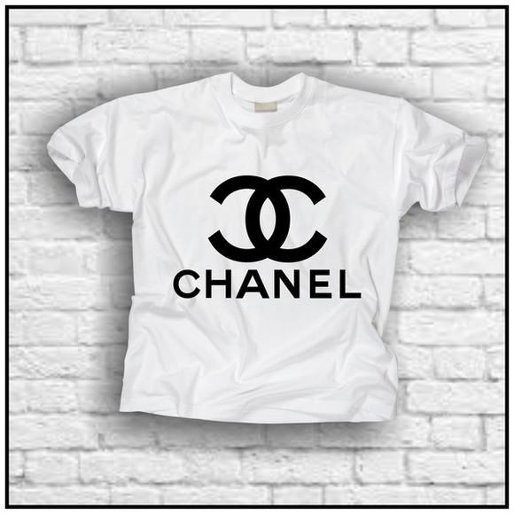 t-shirt paris coco chanel tshirt chanel t-shirt white t-shirt rhiana