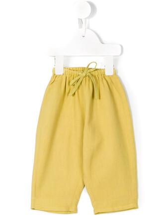 girl baby toddler yellow orange pants