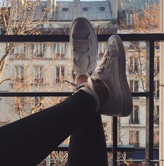 shoes puma puma x rihanna puma sneakers puma suede white