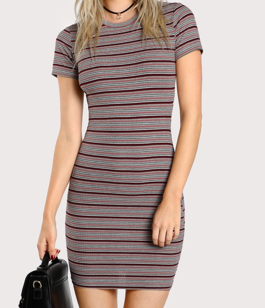 dress girly stripes striped dress bodycon dress bodycon mini dress mini