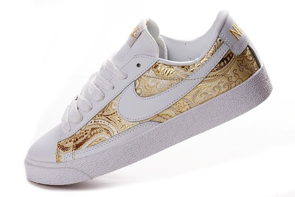shoes nike gold sneakers white nike sneakers
