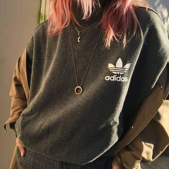 jewels tumblr adidas adidas top sweatshirt sportswear necklace gold necklace minimalist jewelry jewelry gold jewelry 90s style