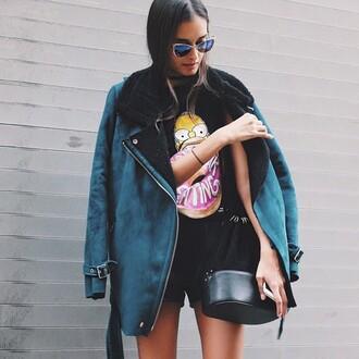 homer cool girl simpson t-shirt t-shirt coat bag