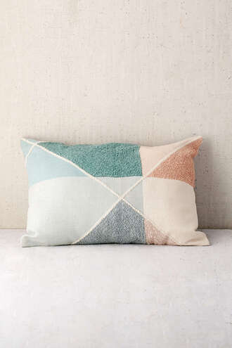 home accessory pillow pastel colorblock urban outfitters