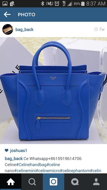 bag blue bag cute purse