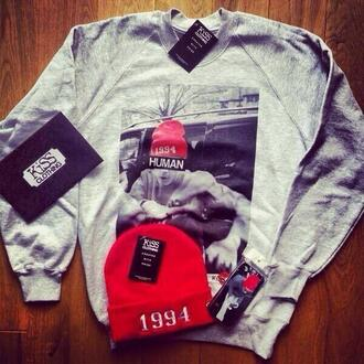 sweater justin bieber 1994 beanie heather grey t-shirt hipster clothes celebrity kiss hat blouse