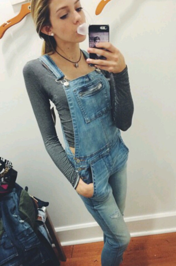 jumpsuit blue wash ripped skinny jeans