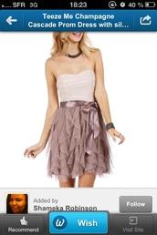 dress,prom dress,champagne dress