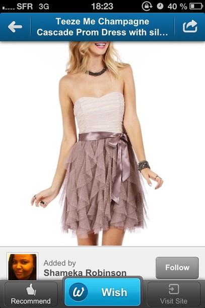 dress prom dress champagne dress