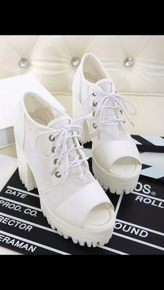 shoes white shoes high heel white high heel tractor sole high heels women shoes high heel, black tractor sole