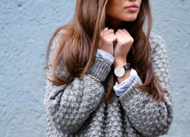 sweater grey sweater fashion