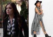 dress,aria montgomery,pretty little liars,lucy hale,slit dress