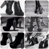 shoes,lita,jeffrey campbell,black,studded shoes,high heels,black and studded