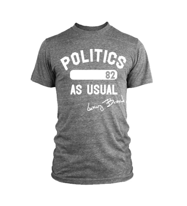 t-shirt politics as usual luxury brand la grey menswear mens t-shirt graphic tee slogan tee graphic tee graphic tee mens style