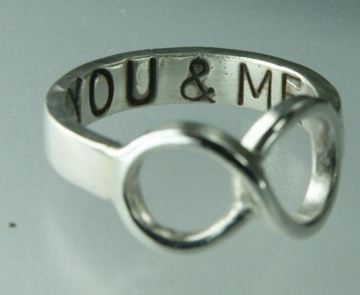 You Me Infinity Ring Sterling Silver with Statement by XCognito