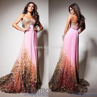 dress formal dress lepoard print