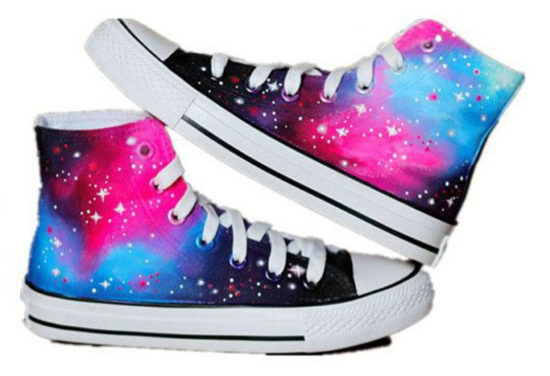 reputable site 002a0 13e63 shoes high top converse galaxy print converse