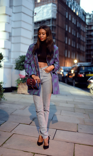 bisous natasha coat t-shirt jeans bag shoes jacket