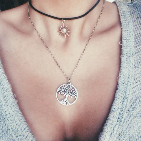 cool sweet jewels style necklace sun cool sun loveit love it punk girl instagram stylish