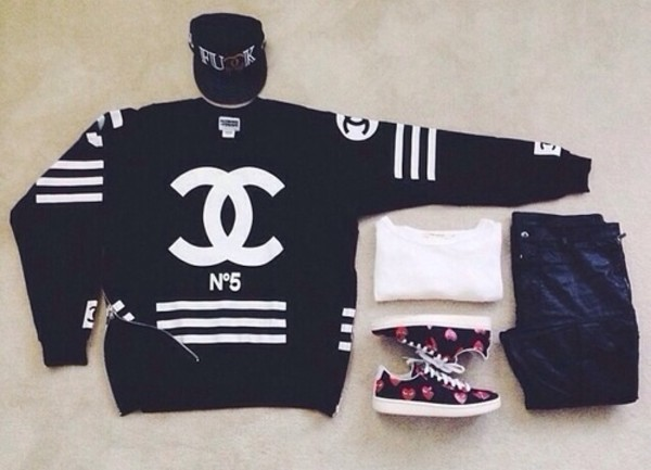 sweater chanel chanel black