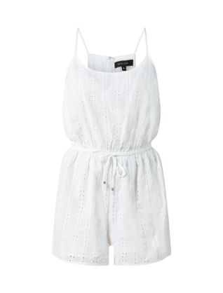 White Strappy Broderie Playsuit