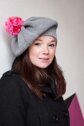 hat,knitwear,grey,pink,wool,cloudberryfactory,autumn/winter,winter outfits,winter hat,grey beanie
