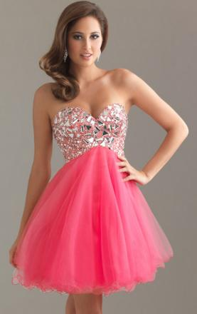 Tulle A-line Sweetheart Strapless Sleeveless Short Prom Dress Online|KissyDress UK