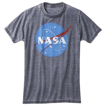 Men's NASA Oil Wash Graphic Tee - Black Basin : Target
